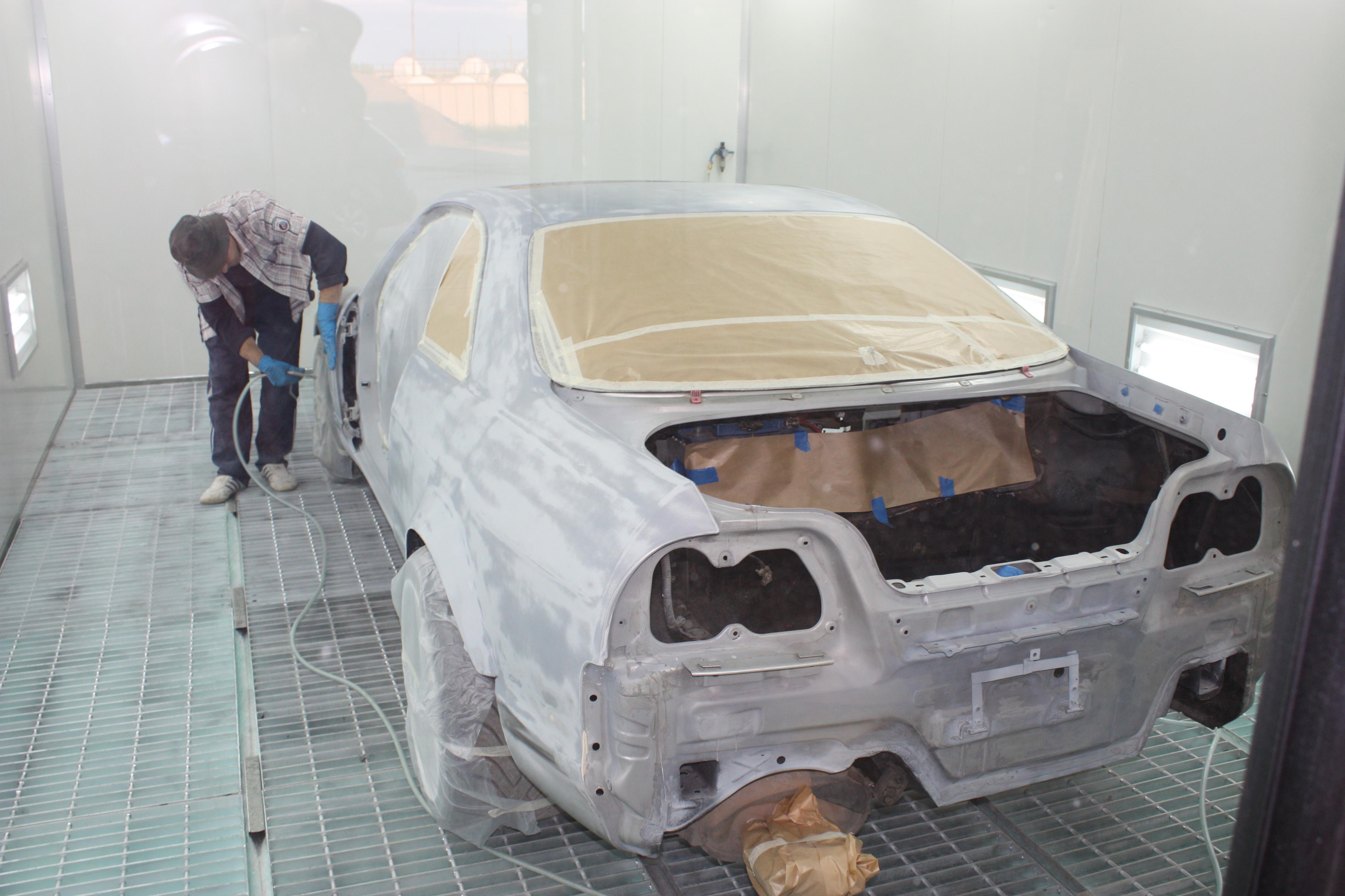 подготовка авто к покрытию лаком